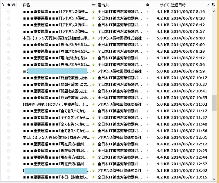 ひどい迷惑メールの対処法