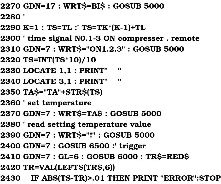 静電容量(比誘電率)の温度特性を自動測定するシステム(TCC)のBASICプログラムコードについて